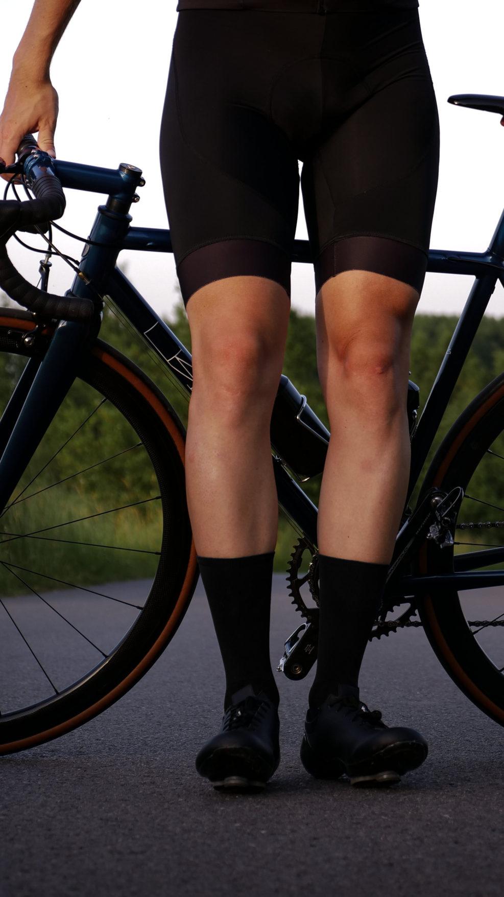 black cycling socks