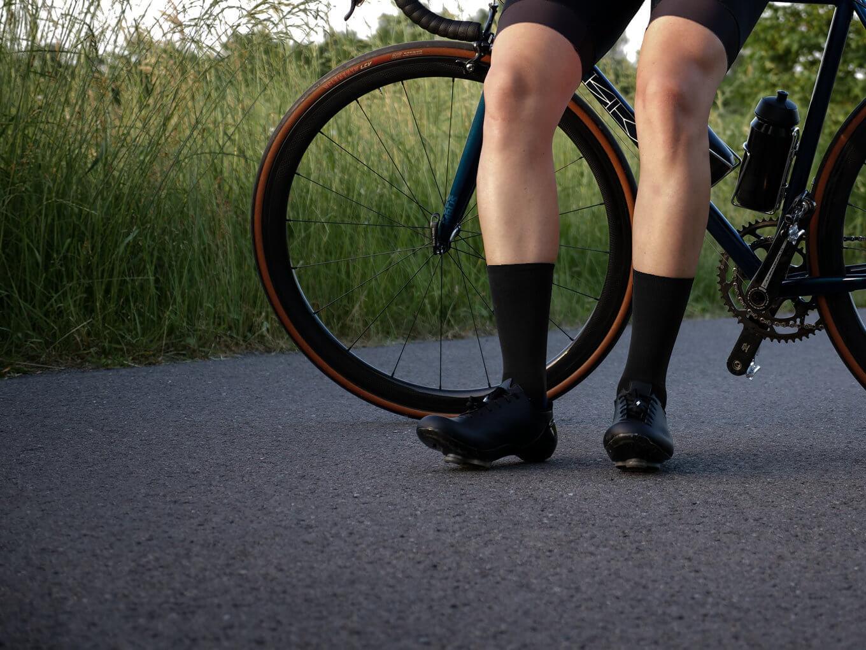 black nologo cycling socks