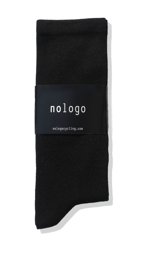 black cycling socks