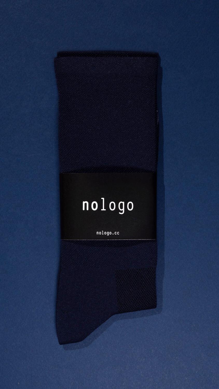 nologo dark blue cycling socks product photo