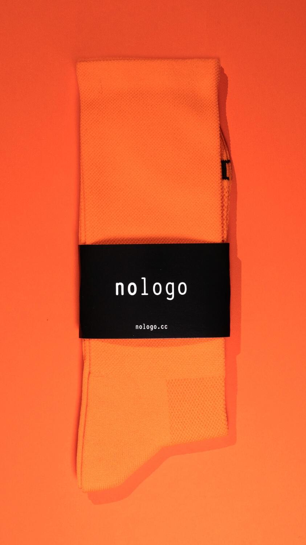 nologo orange cycling socks product photo
