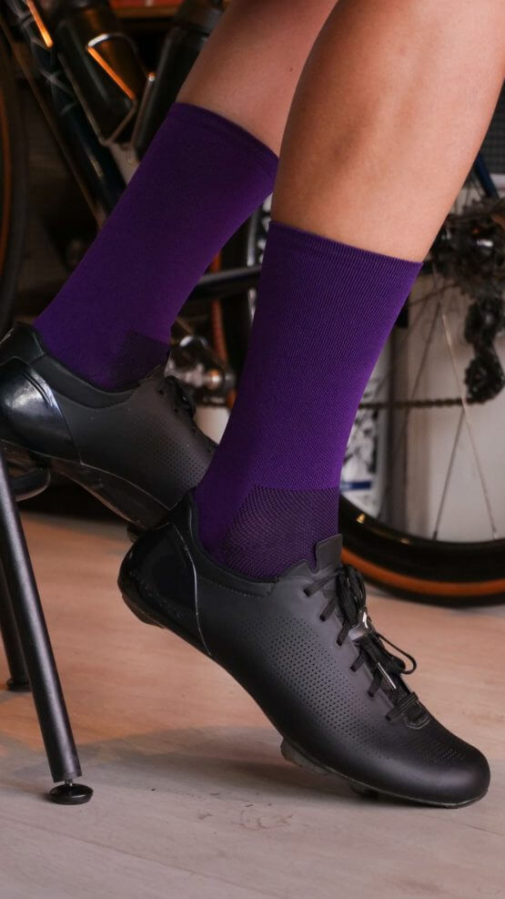 purple nologo cycling socks
