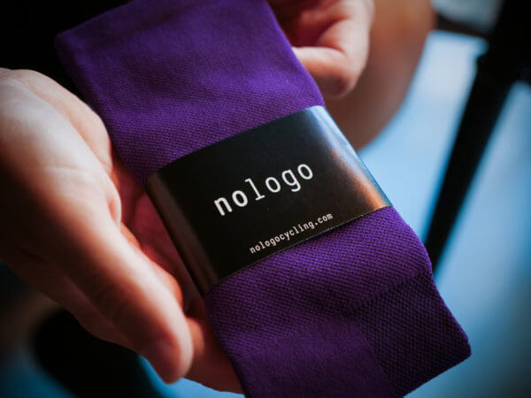 purple cycling socks nologo