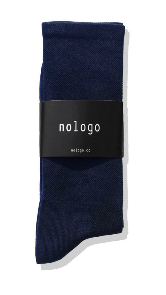 plain dark blue nologo cycling socks