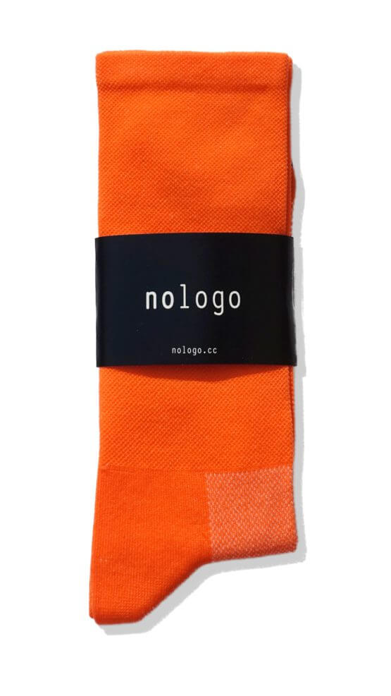 plain orange nologo cycling socks