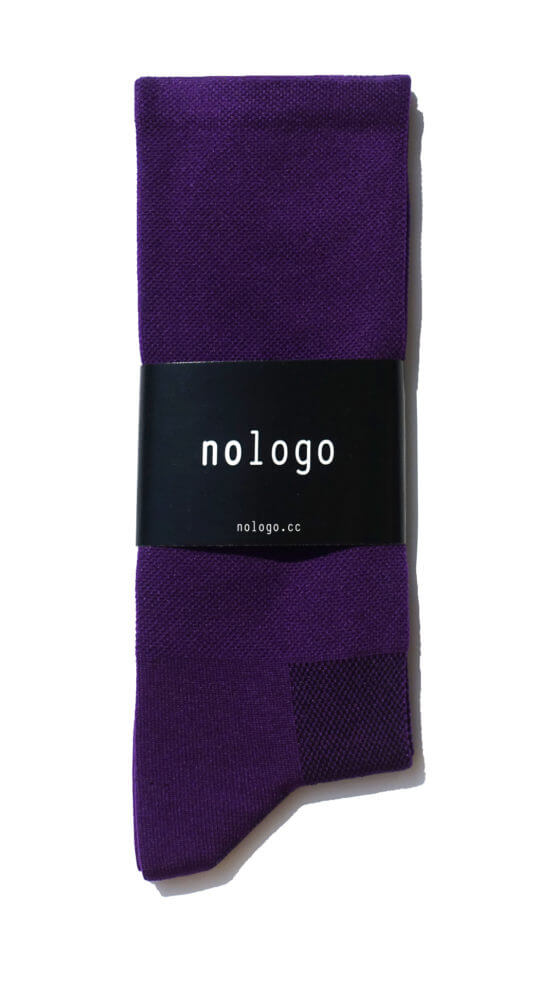 plain purple nologo cycling socks