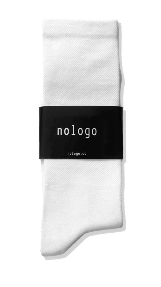 plain white nologo cycling socks