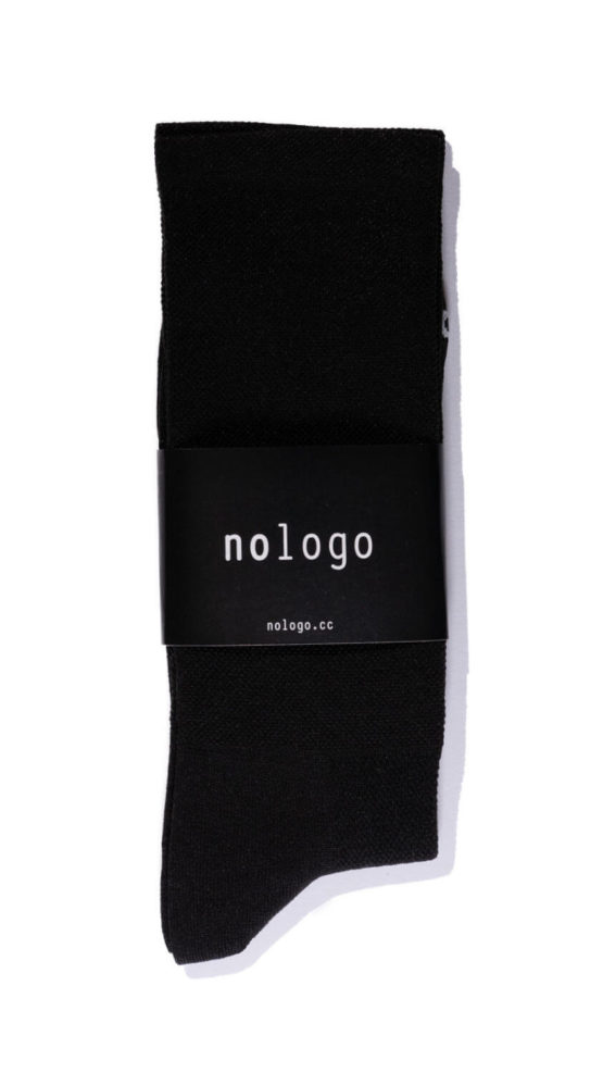 nologo black cycling socks product photo