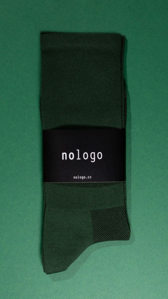 nologo dark green cycling socks