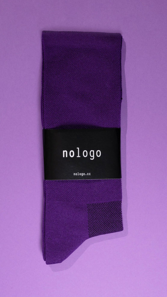 nologo purple cycling socks product photo