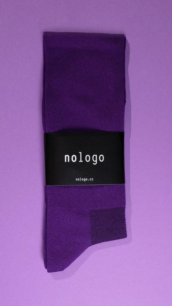 nologo purple cycling socks product photo
