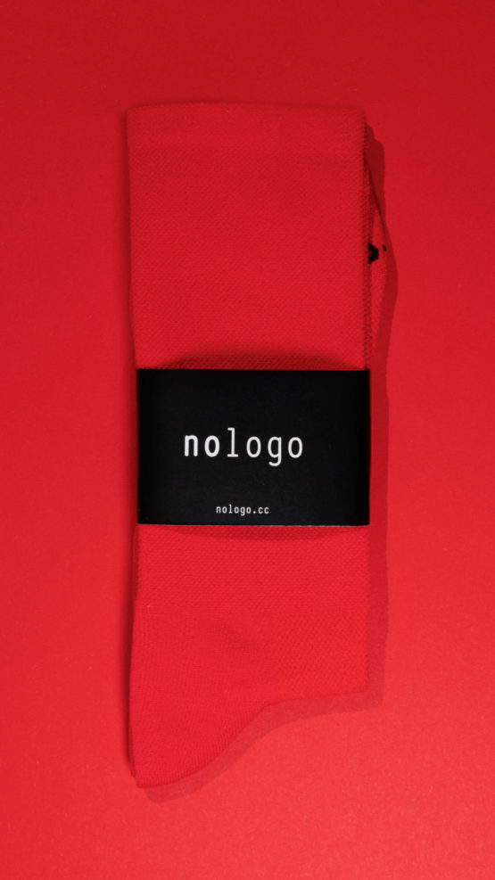 nologo red cycling socks