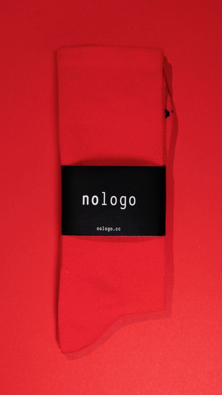 nologo red cycling socks