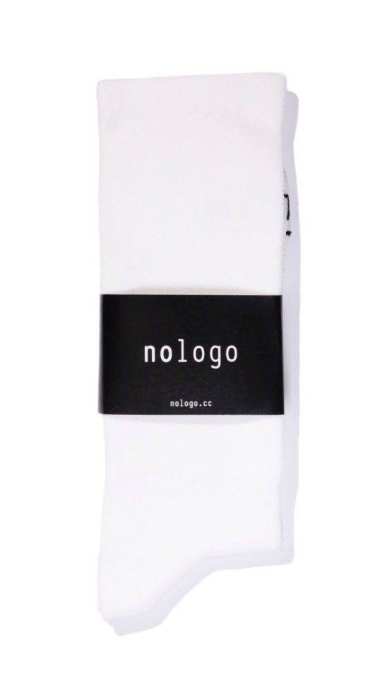 nologo white cycling socks product photo