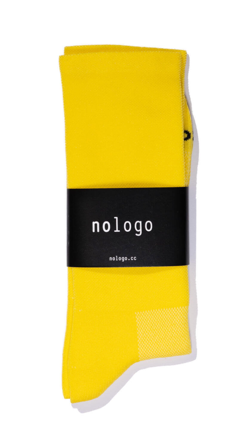 nologo yellow cycling socks