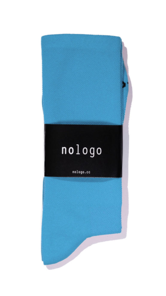 nologo blue cycling socks product photo