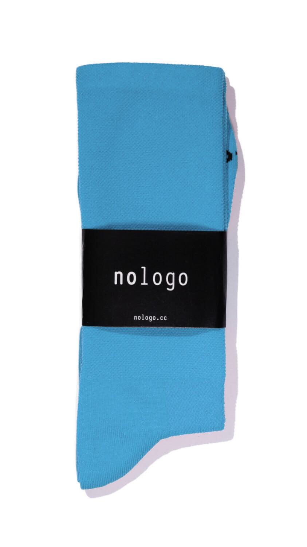 nologo blue cycling socks product photo