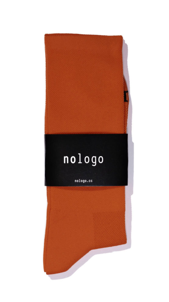 nologo ochre cycling socks