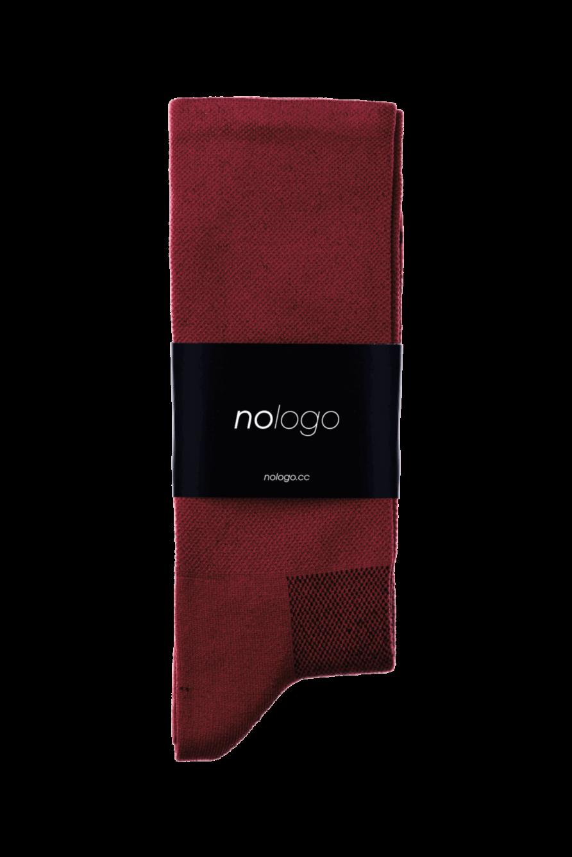 nologo burgundy cycling socks product photo