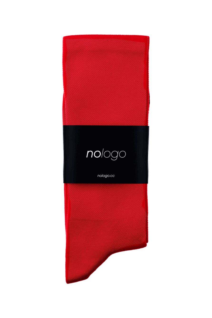 nologo red cycling socks product photo